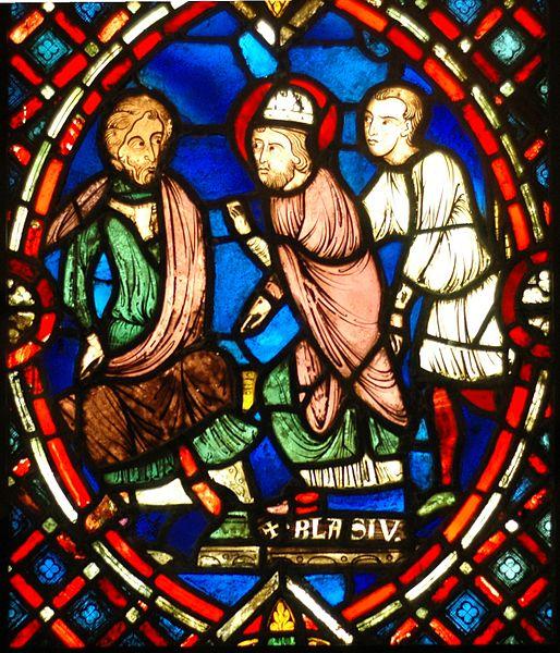 (Picardy, Fransa) bölgesinden 13. yüzyılda vitray pencere.