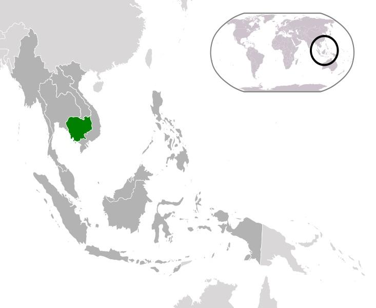 Kamboçya Dünya Haritası Konumu