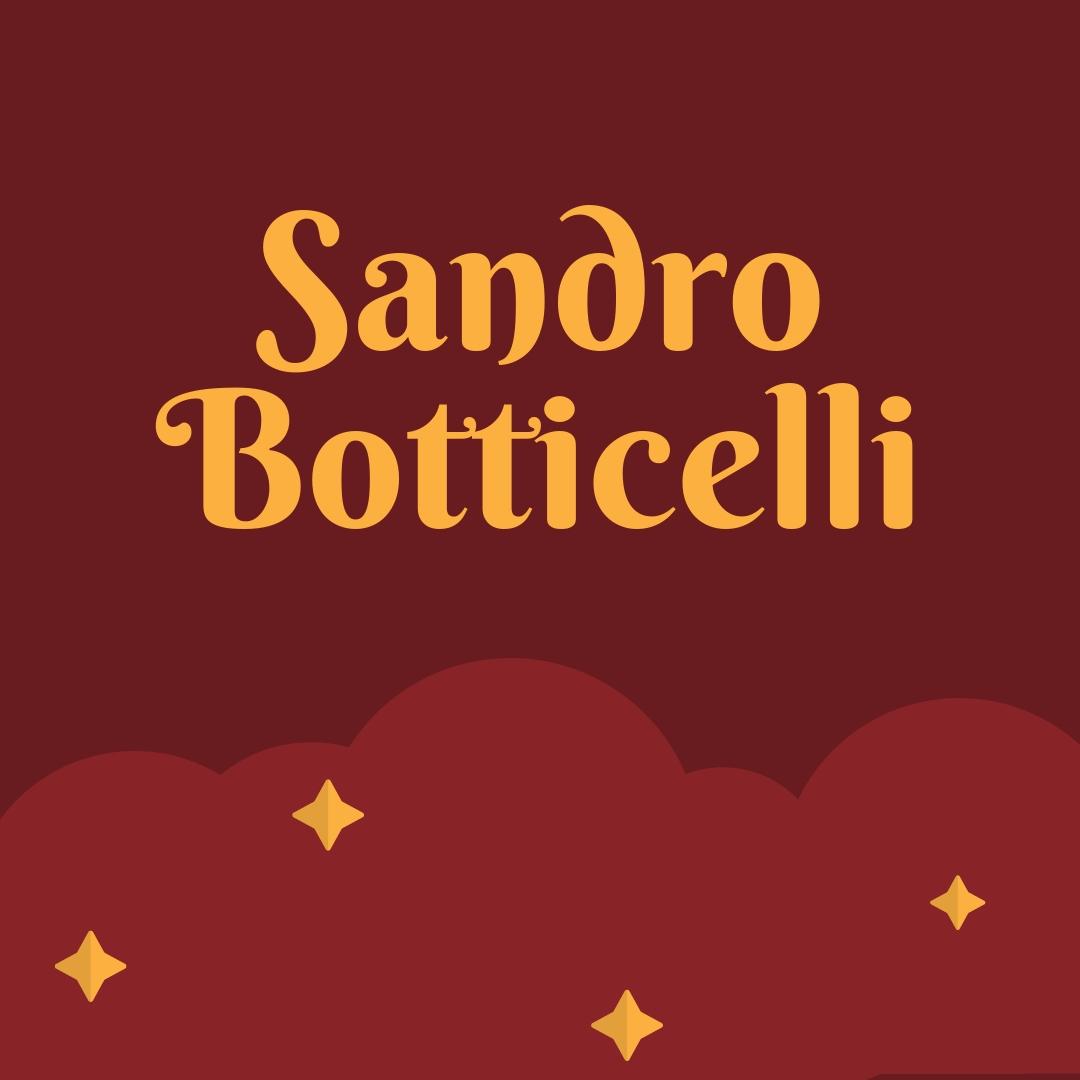 Sandro Botticelli Ressam