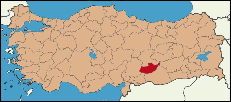 Adıyaman'ın Türkiye Haritasındaki Konumu