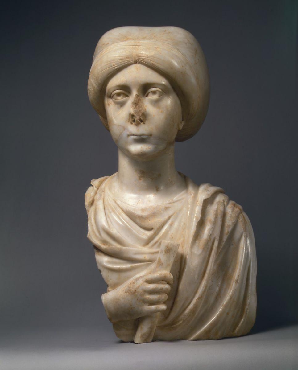 Bizans Dönemi Eseri Kadın Mermer Portre Büstü