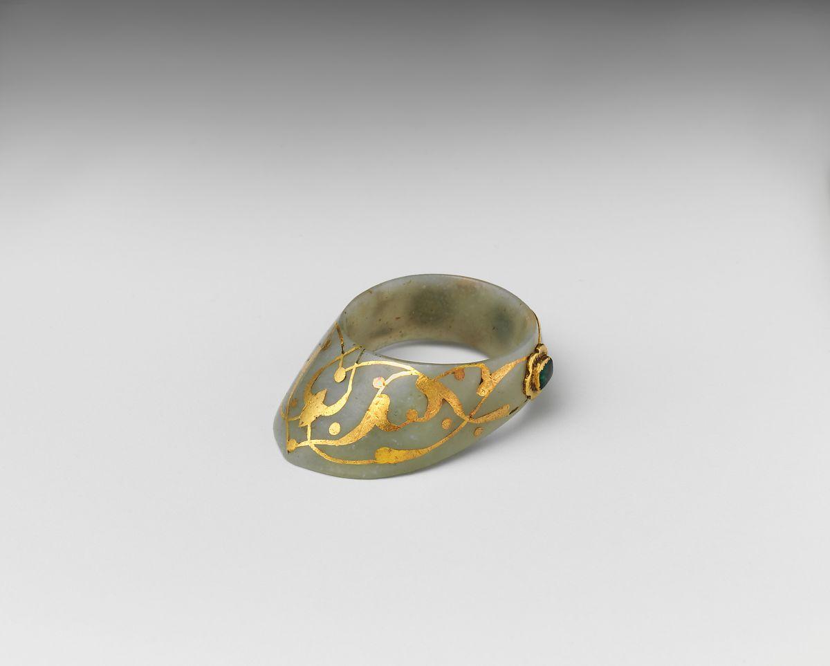 Altından Yapılmış Türk Okçu Yüzüğü