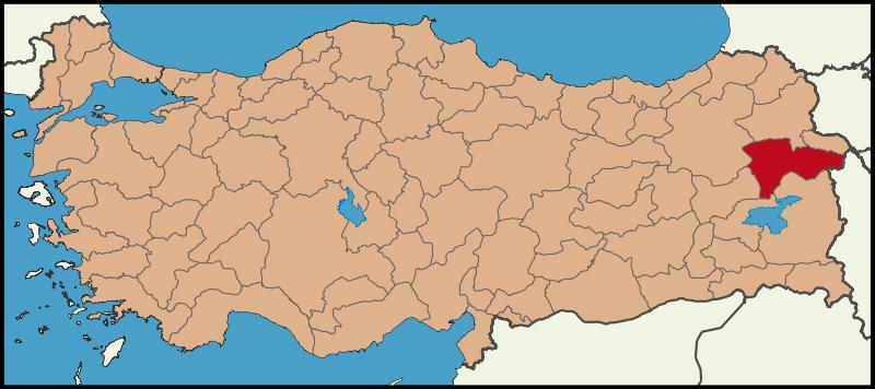 Ağrı Şehri Türkiye Haritasında