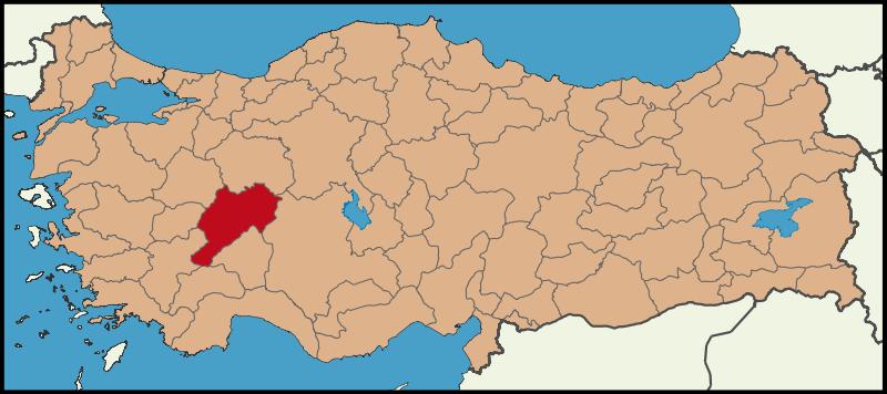 Türkiye Haritasında Afyonkarahisar Konumu