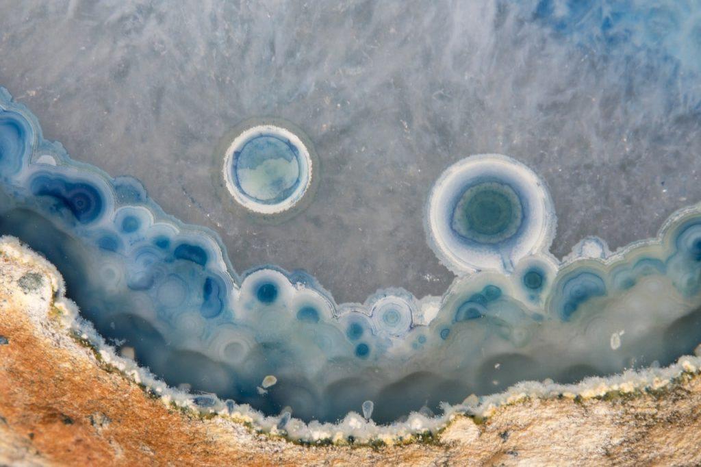 Akik Minerali Makro Görünümü