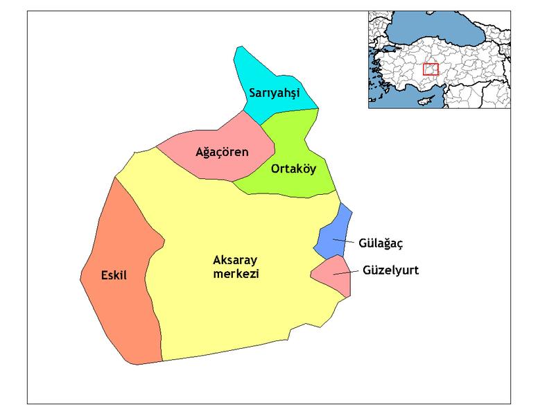 Aksaray'ın İlçeleri İsimler