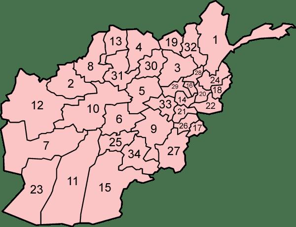 Afganistan'ın Şehirleri ve Detaylı Konumları