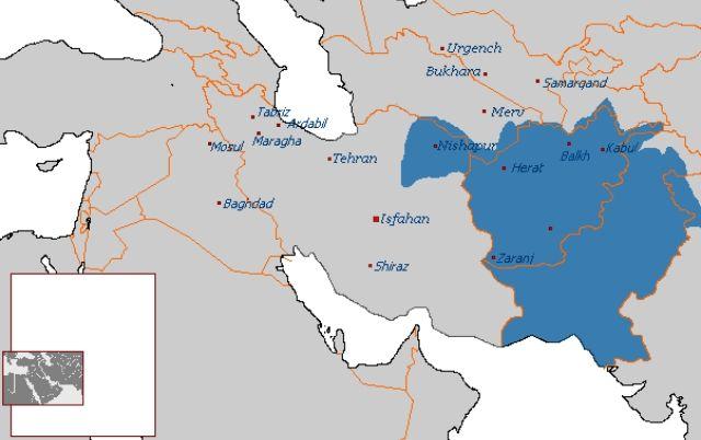 Abdaliye Devleti'nin Ulaştığı En Geniş Sınırlar