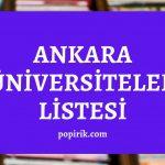 ankara üniversiteleri listesi